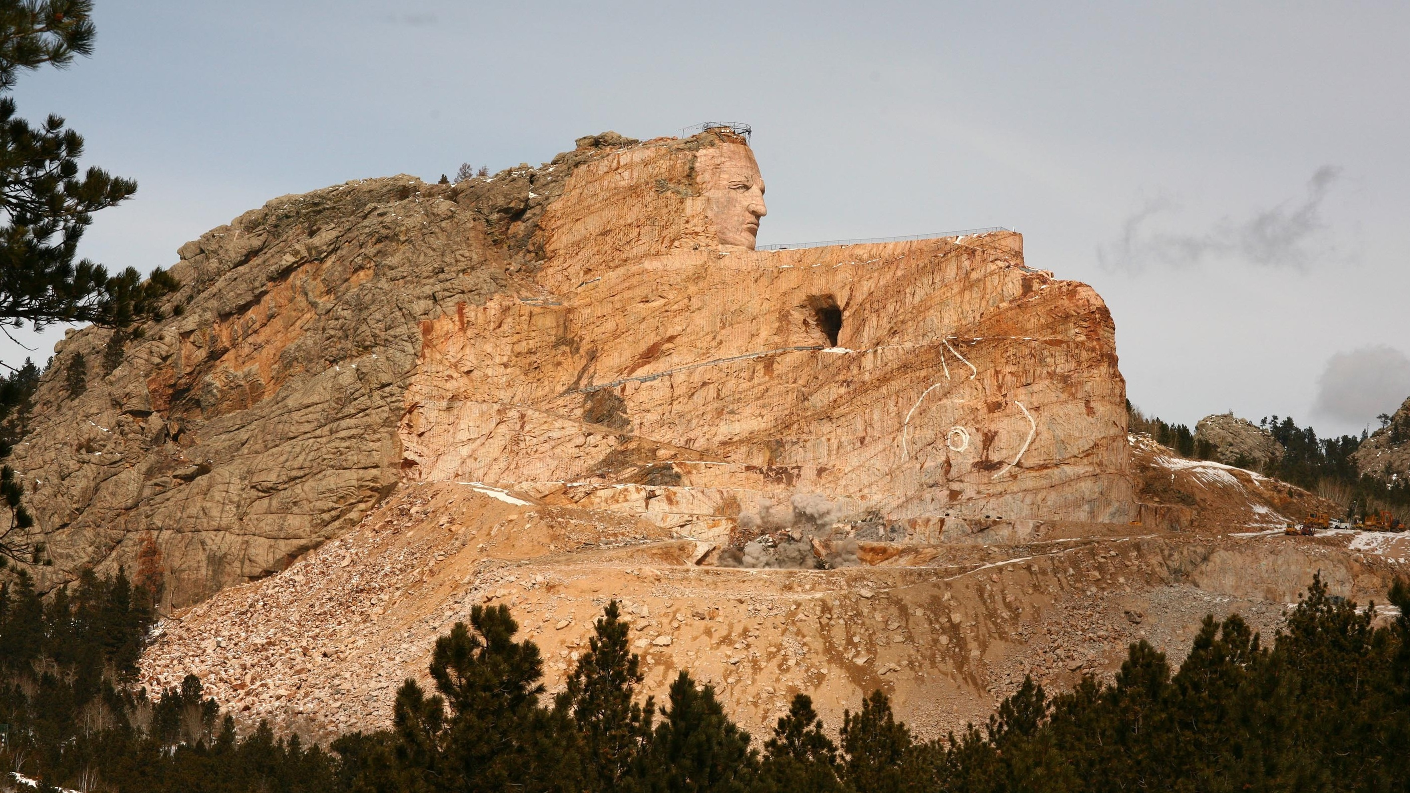 The Slow Carving Of The Crazy Horse Monument Npr