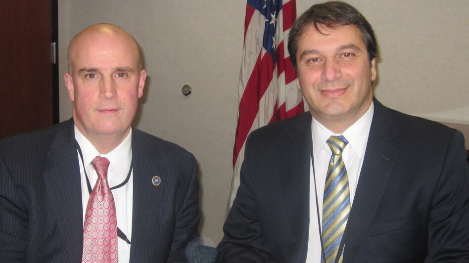 Patrick Carroll (left) and David Chaves head white collar crime and securities fraud units at the FBI's New York office. Their team pursued insider trading with some of the same tactics used on organized crime and drug cartels. (NPR)
