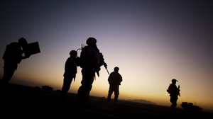 Soldiers on patrol in Afghanistan near the Pakistan border in 2009. This year, more active-duty troops died by suicide than by fighting in Afghanistan.