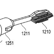 "A drawing from Michael Davidson's 2012 patent for ""Toothbrush And Method Of Using The Same."""