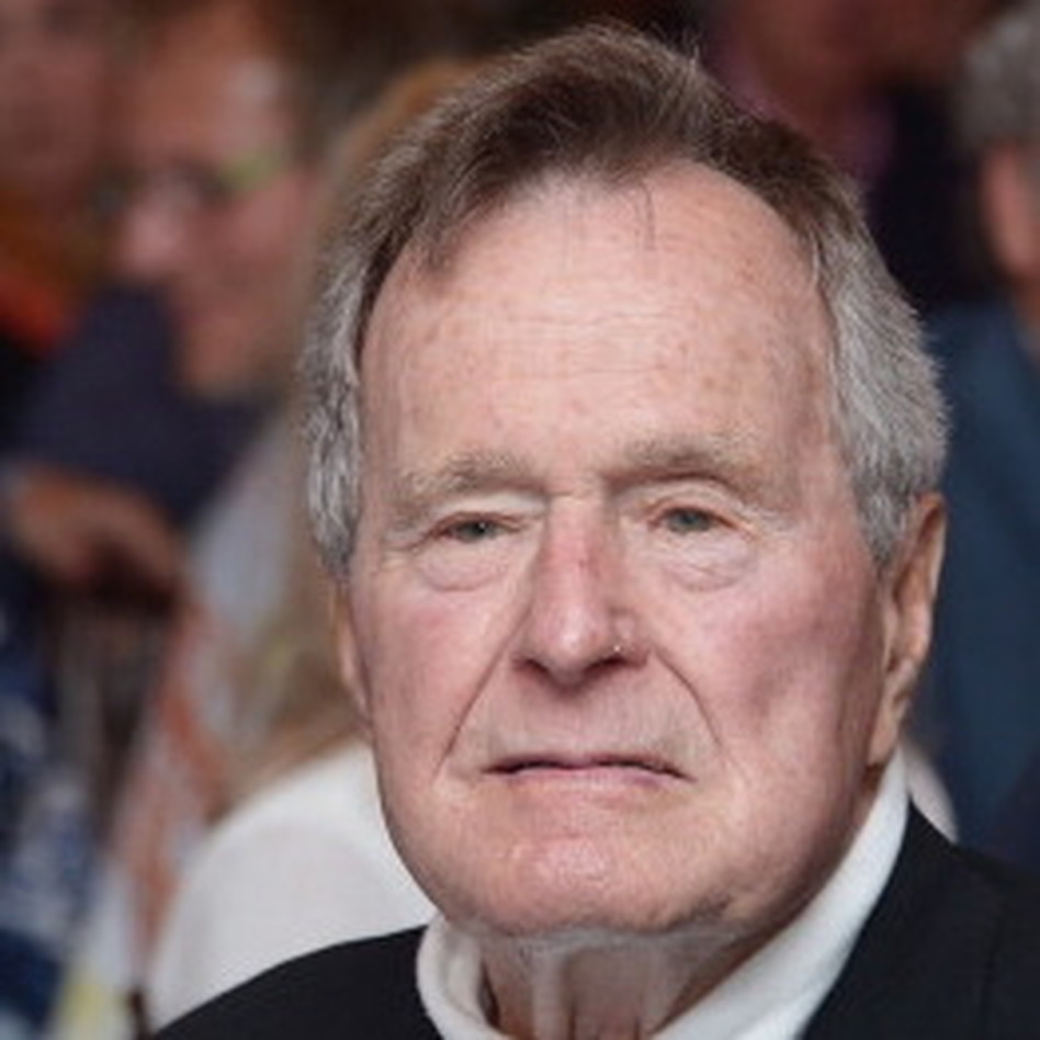 Former President George H.W. Bush in June.