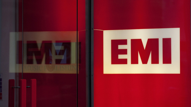 The London headquarters of EMI, whose sale this year brought the number of major labels from four to three. (Bloomberg via Getty Images)