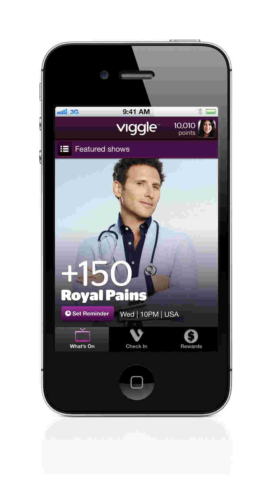 When you tap the screen, Viggle's software for iPhones and iPads listens to what's on, recognizes what you're watching and gives you credit. Rack up a certain number of points, and you'll be rewarded with a gift card from retailers such as Burger King and Starbucks.