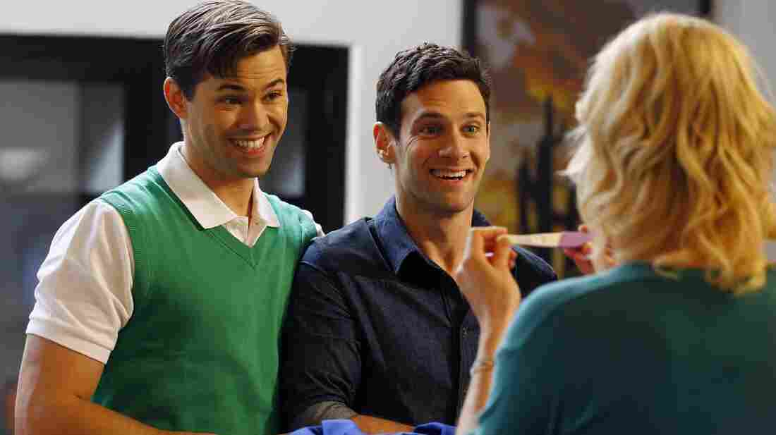 Partners Bryan (Andrew Rannells) and David (Justin Bartha) decide to use a surrogate to expand their family in The New Normal.