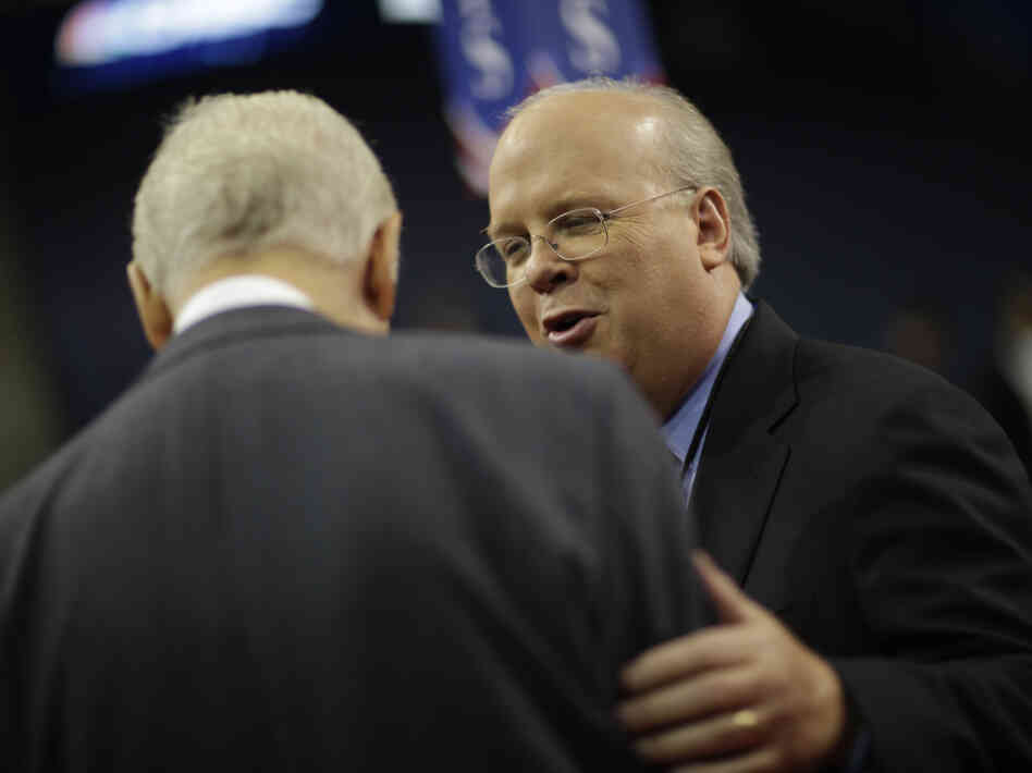 Republican strategist Karl Rove, shown at the Republican National Convention