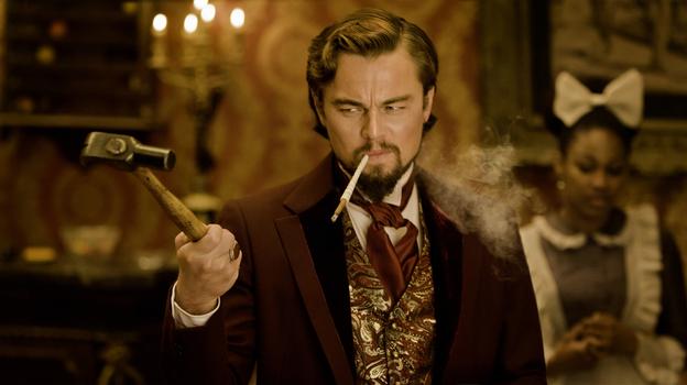 Calvin Candie (Leonardo DiCaprio), a slave owner, holds Django's wife captive. (The Weinstein Company)