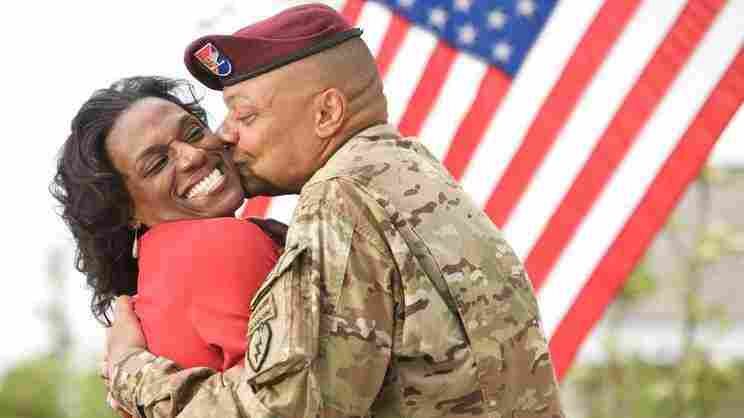 Yolanda and Brigade Commander Col. Morris Goins of OWN's Married To The Army: Alaska.