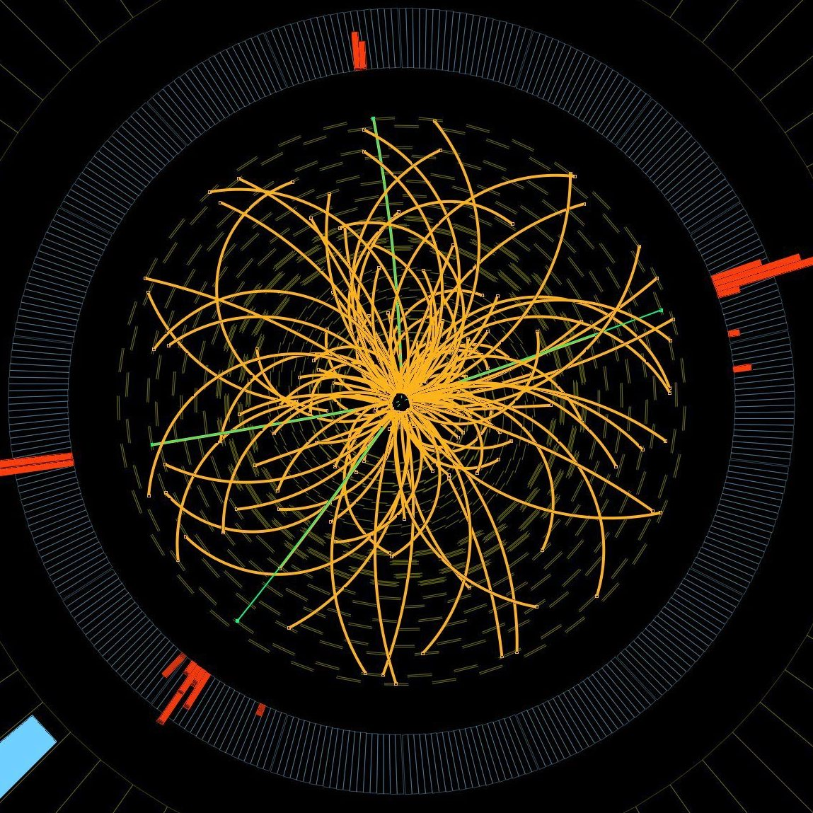This image from the Large Hadron Collider shows data consistent with the Higgs boson.