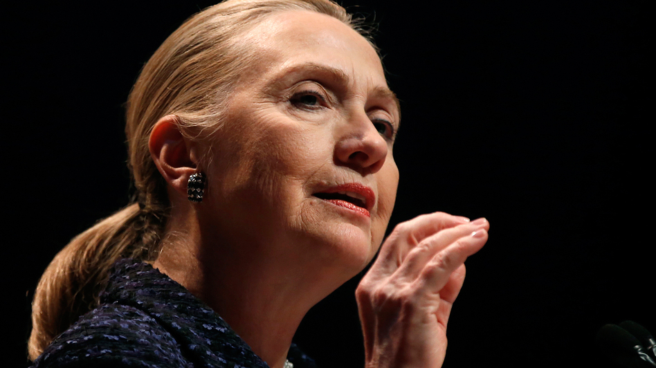 Secretary of State Hillary Clinton on Dec. 6 in Dublin. (AFP/Getty Images)