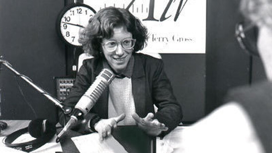 Terry Gross, shown above in 1987, has been host of Fresh Air since 1975, when it was broadcast only in greater Philadelphia. (NPR's Fresh Air)