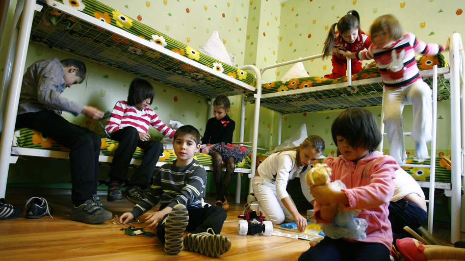 Children at an orphanage in the southern Russian city of Rostov-on-Don earlier this month. (Reuters /Landov)