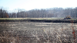 Osage Catfisheries drained this catfish pond to make room for another, potentially more lucrative species, such as paddlefish or bass.
