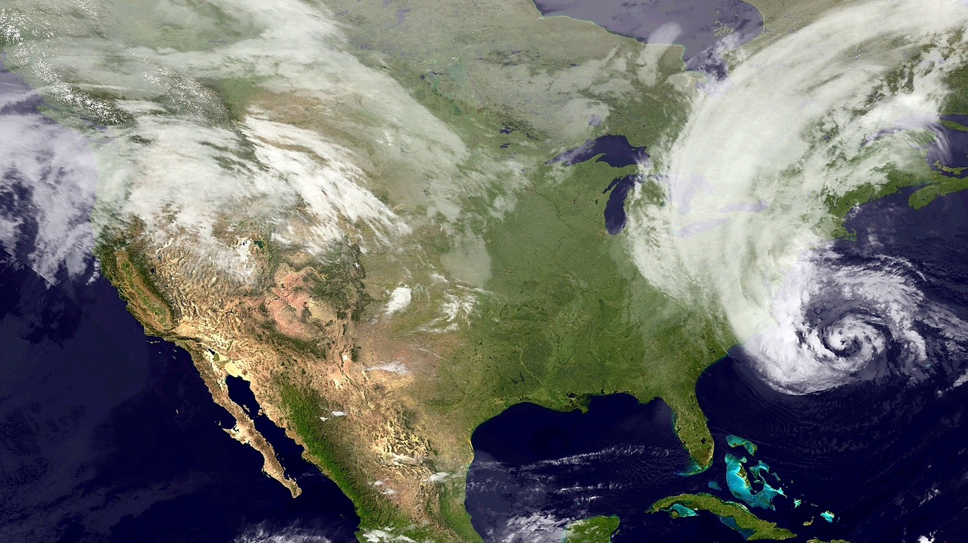 hurricane sandy atlantic ocean nasa - HD1400×786