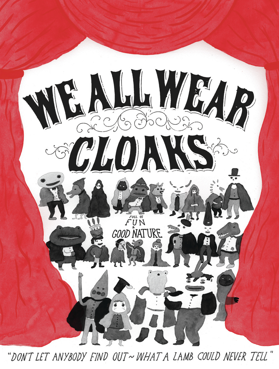 "Song Reader original art for the song ""We All Wear Cloaks."" (Kyle Pellet)"