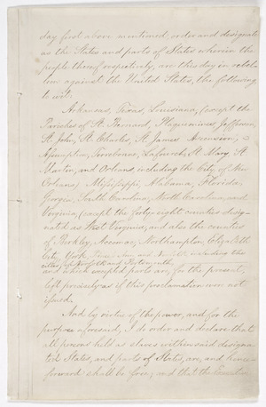 Page 3 of the Emancipation Proclamation.