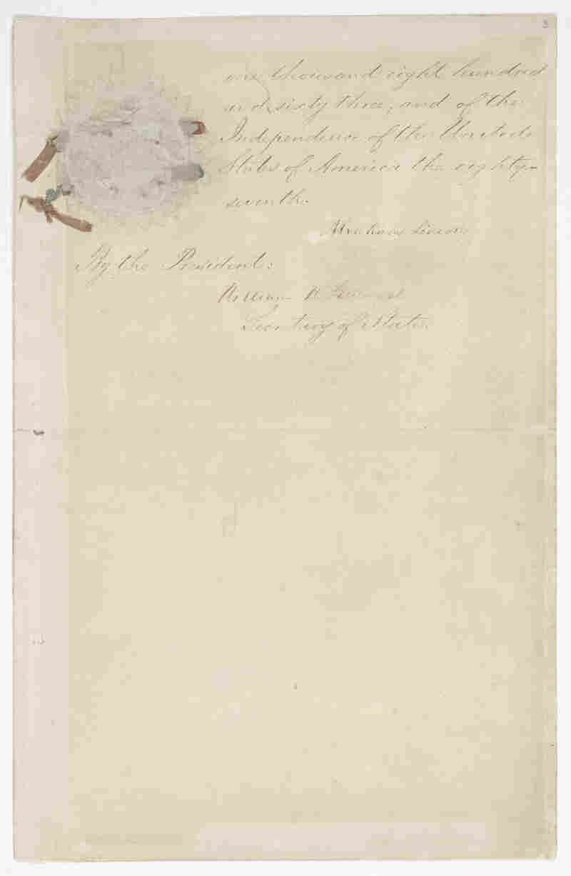 Page 5 of the Emancipation Proclamation.