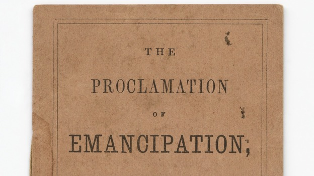 Pocket versions of the Proclamation of Emancipation were distributed through Union troops to be read to slaves. (Smithsonian National Museum of African American History and Culture)