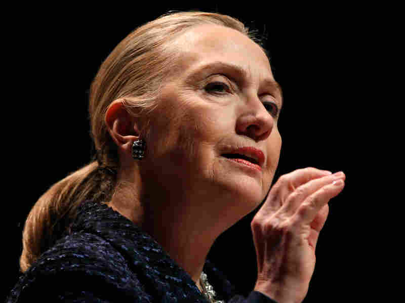 Secretary of State Hillary Clinton has been admitted to a New York hospital after doctors found a blood clot stemming from an earlier concussion.