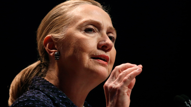 Secretary of State Hillary Clinton has been admitted to a New York hospital after doctors found a blood clot stemming from an earlier concussion. (AFP/Getty Images)