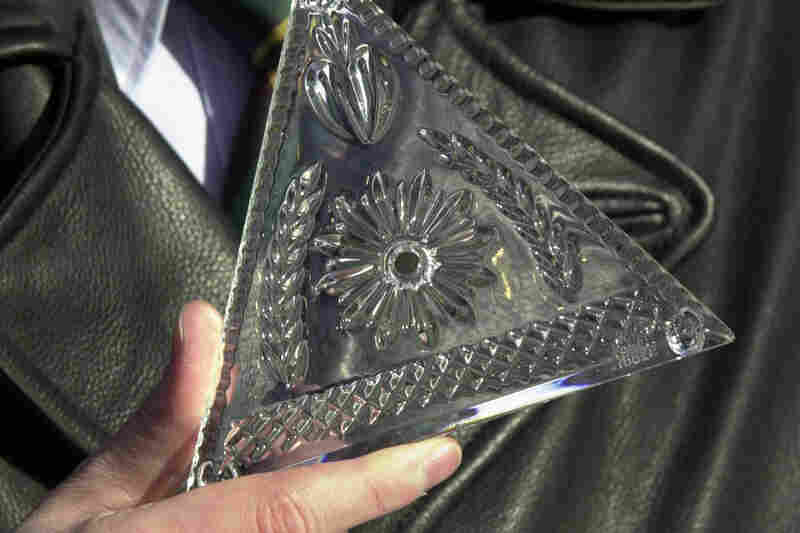 One of the 72 new Waterford Crystal triangles that were installed in the 2000 ball. A total of 504 crystal triangles covered the ball that was dropped at the turn of the millennium.
