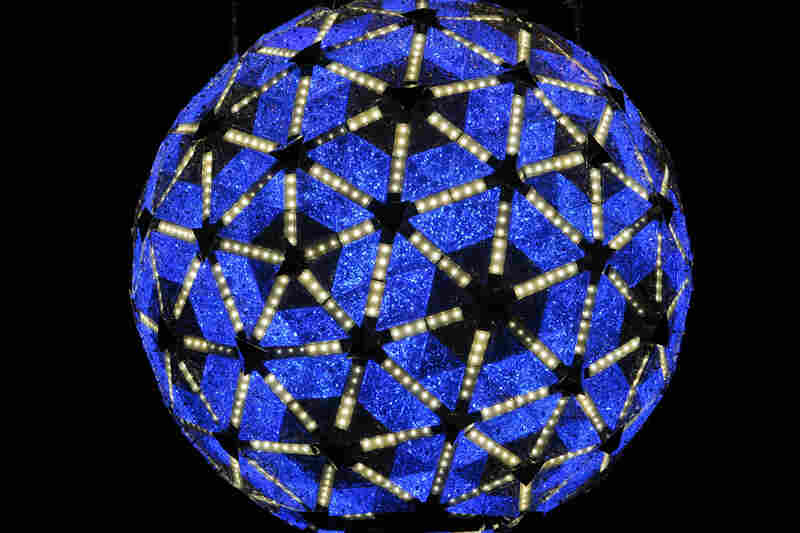 A new ball was built for the 100th anniversary of the ball drop in 2007 — twice as bright as its predecessor and color-enabled with LED technology.