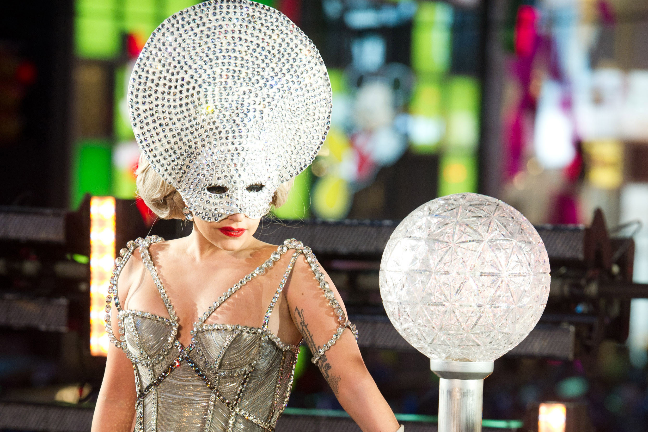The only thing that makes less sense than dropping a ball on New Year's Eve is Lady Gaga dressing as the ball to officiate the ball-dropping.