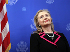 Secretary of State Hillary Clinton on Dec. 4 in Brussels, before she fell ill.