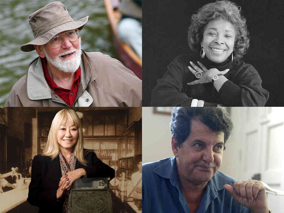 Clockwise from top left: Conservationist Ralph Frese, novelist Rosa Guy, political activist Oswaldo Paya, inventor Frances Hashimoto.