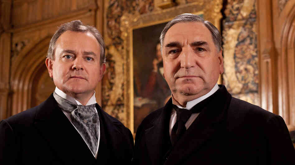 Hugh Bonneville (left) stars as Lord Grantham and Jim Carter as Mr. Carson, the formidable butler of Downton Abbey.
