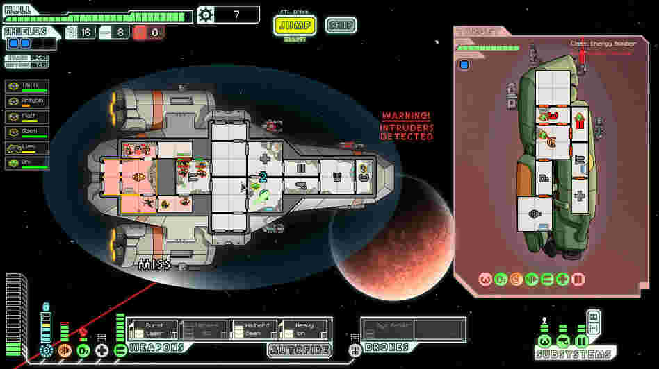 Screenshot from FTL.
