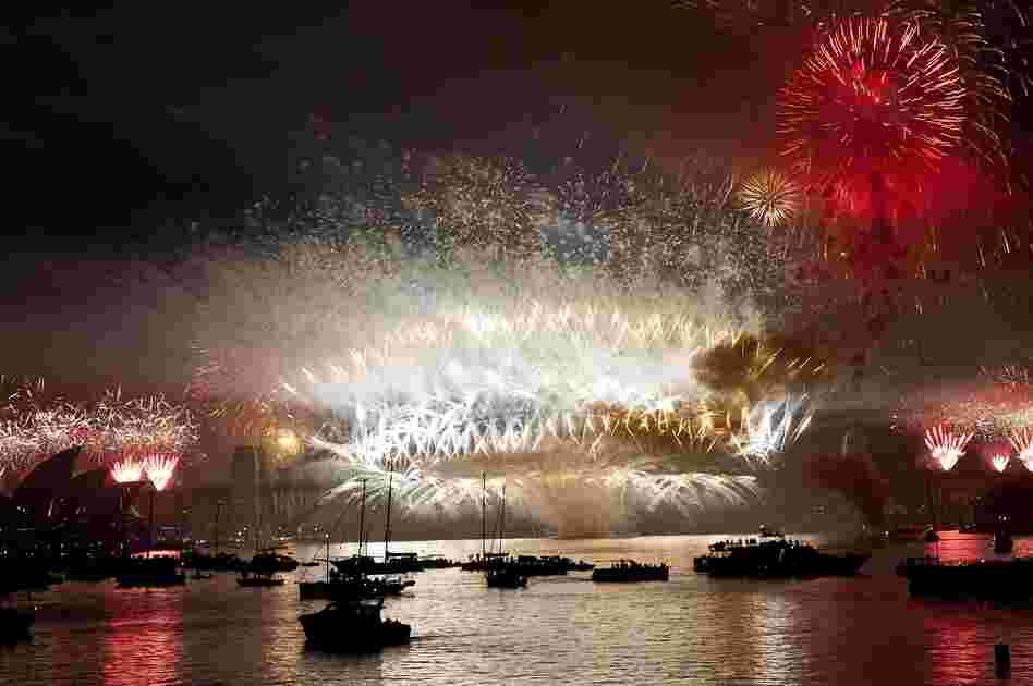 Fireworks erupt over the Sydney Harbor Bridge. Sydney kicked off a wave of dazzling firework displays welcoming in 2013, from Dubai to Moscow and London, with long-isolated Yangon joining the global pyrotechnics for the first time.
