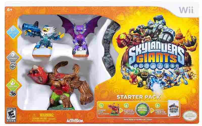 The box of the starter kit of Skylanders Giants.