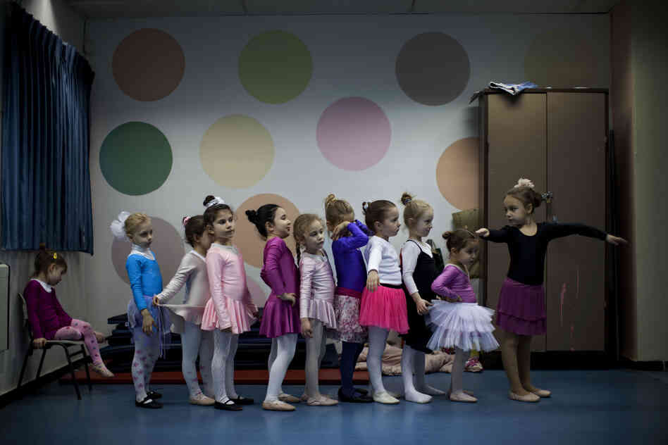 Children of immigrants from the former Soviet Union attend a ballet class in Lod, central Israel. Some prominent ballet dancers left the former Soviet Union for Israel, forming ballet schools a