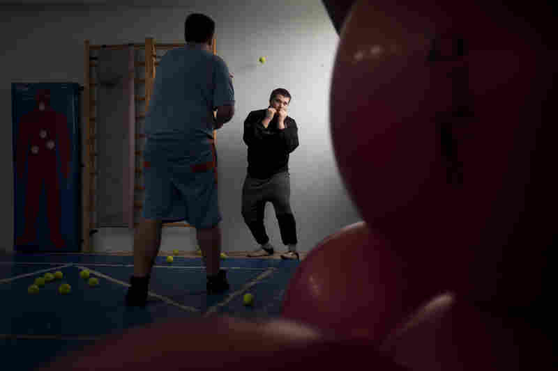 Russian-speaking Israeli immigrants train at a boxing club in Ashdod, a southern Israeli city heavily populated by immigrants from the former Soviet Union.
