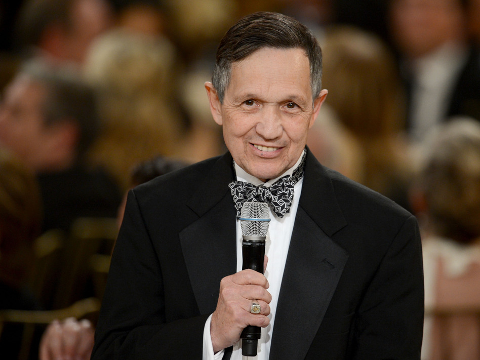 Rep. Dennis Kucinich, D-Ohio, speaks in Culver City, Calif., in June. (Getty Images for AFI)