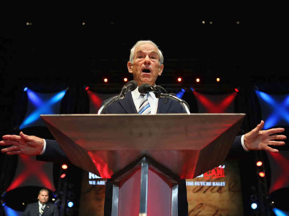 Rep. Ron Paul, R-Texas, speaks at the University of South