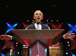 Rep. Ron Paul, R-Texas, speaks at the University of South Florida in Tampa in August.