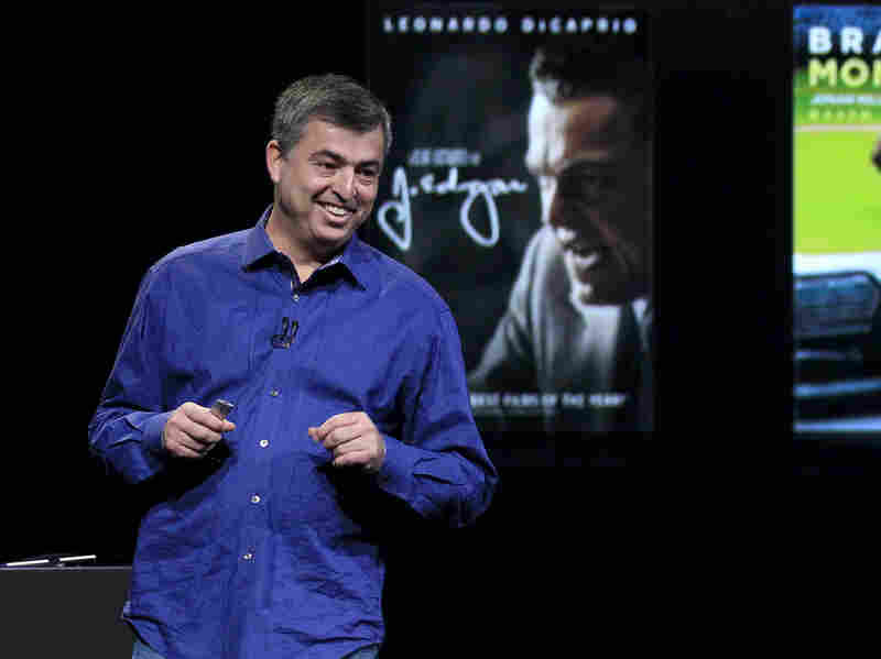 Eddy Cue, Apple's senior vice president of Internet software and services, speaks at an Apple event in San Francisco, last March.