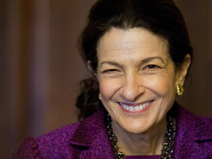Sen. Olympia Snowe, R-Maine, delivers her farewell speech to the Senate last month.