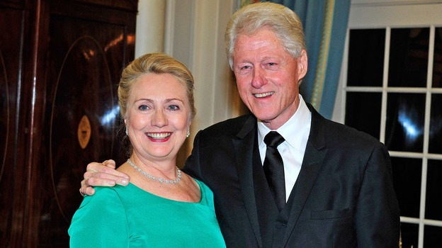 Secretary of State Hillary Clinton was discharged from a New York hospital today, after being treated for a blood clot. In December, Clinton and former President Bill Clinton attended a dinner for Kennedy honorees at the Department of State. (Getty Images)