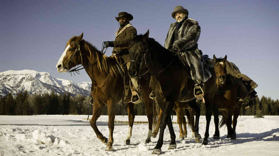 Christoph Waltz and Jamie Foxx star in Tarantino's new spaghetti western-inspired film, Django Unchained.