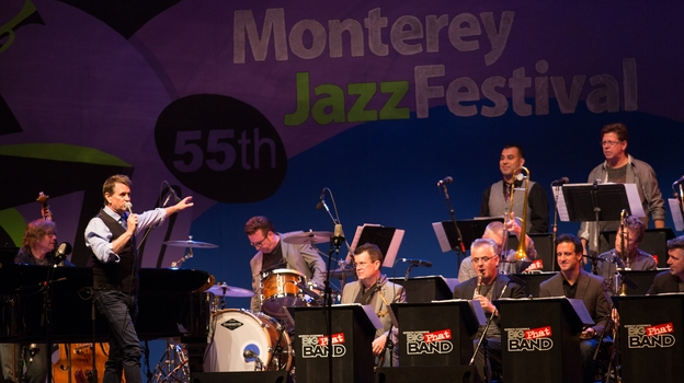 Gordon Goodwin's Big Phat Band in concert at the Monterey Jazz Festival. (Tomas Ovalle)