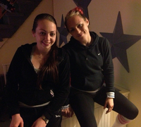 The Hardy sisters (from left) Kaitlyn and Heather in their parents' Gerritsen Beach house.