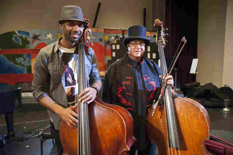 Junius Paul (left) and Harrison Bankhead both played bass.