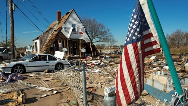Nov. 6: Some of the damage from Superstorm Sandy on New York's Staten Island. (AFP/Getty Images)