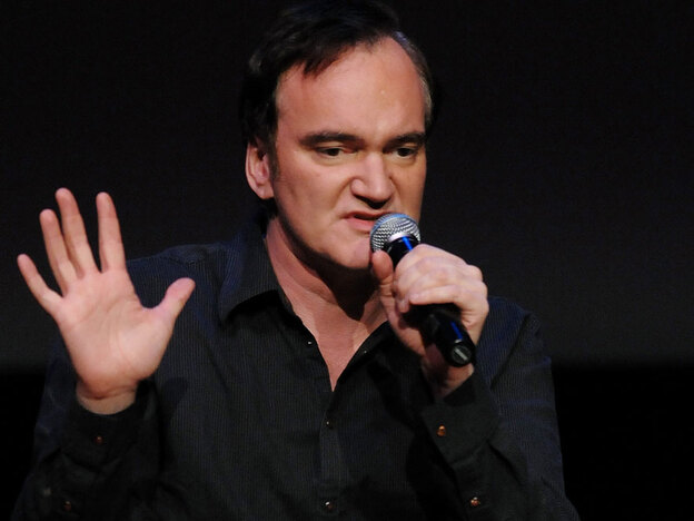 Writer-director Quentin Tarantino, seen here at a 2009 screening of Inglourious Basterds, tells Terry Gross that the only film violence that truly disturbs him involves actual harm to animals. (AP)