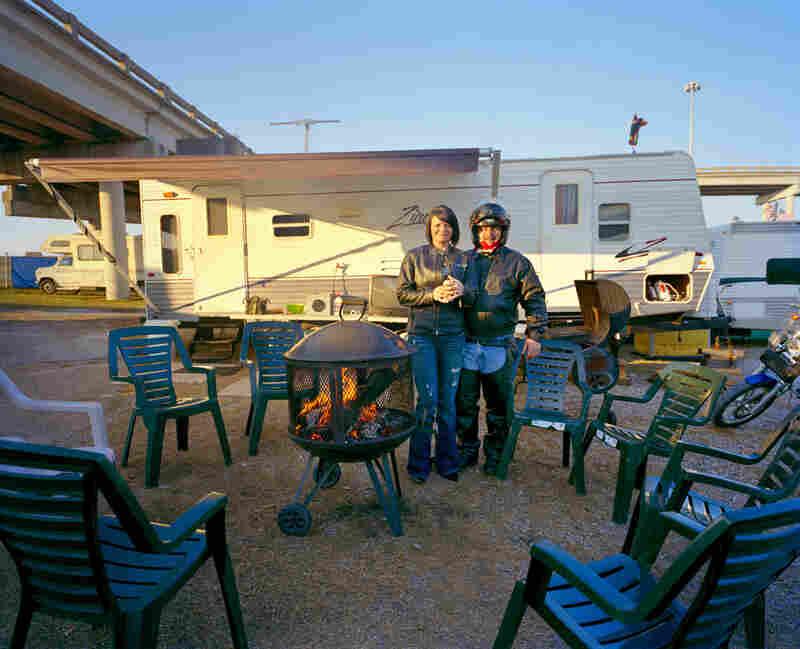 Terrilynn and Mike Benintende, Mardi Gras camp, Mobile.