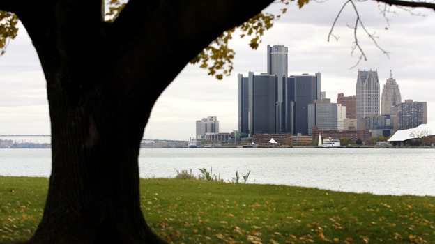 The Detroit skyline as seen from Belle Isle. (Getty Images)
