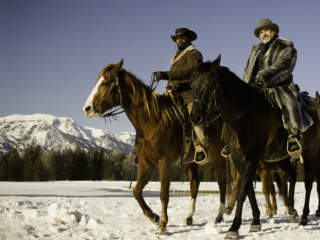 Christoph Waltz (right, with Jamie Foxx) stars in Quentin Tarantino's new film<em> Django Unchained</em>.