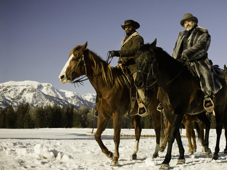 Christoph Waltz (right, with Jamie Foxx) stars in Quentin Tarantino's new film<em> Django Unchained</em>.